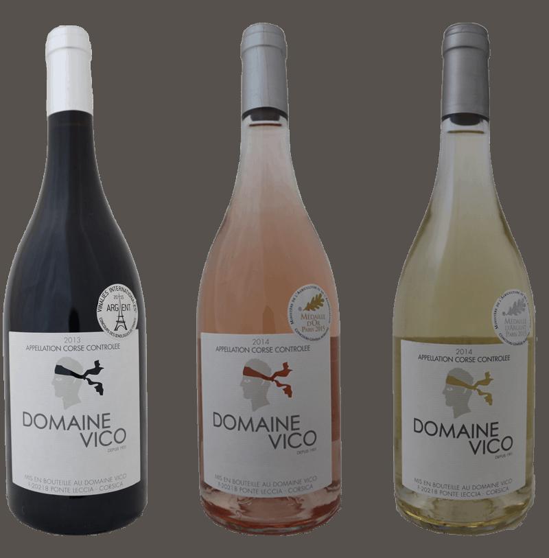 Les vins du Domaine Vico